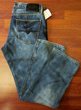 Guess Slim Straight Leg Jean Men Size 34 X 30 Mid-Rise Distressed Medium Wash