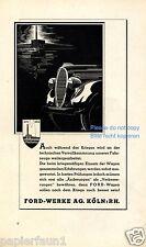 Ford Reklame von 1940 Krieg Kühler Kühlerfigur Fabrik Werbung ad vehicle Auto