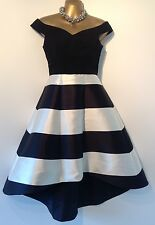 Coast Black & White Katey Stripe Icon Dress Size 6 Receipt Shown