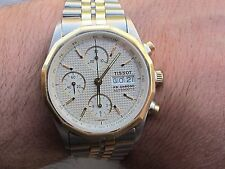 TISSOT PR CHRONO AUTOMATIC REF.C450 SS/GOLD PLATED CAL.VALJOUX 7750 SWISS MENS