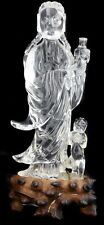 A ROCK CRYSTAL GODESS WITH CHILD OF BUDDHA, CHINESE Lot 238