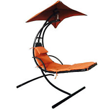 Hanging Chaise Lounger Chair Arc Stand Air Porch Swing Hammock Chair Canopy New