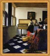 Lady at the Virginal with a Gentleman Jan Vermeer Musik Lesson Krug B A2 02463