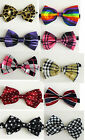 KID'S/BOYS/GIRLS SHINY SATIN FINISH PRE-TIED PATTERNED FASHION BOW TIES
