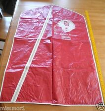 1970's Oklahoma University Football garment zip suit bag The Squire Shoppe Enid