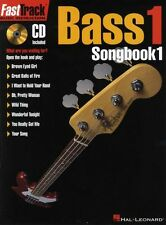 Fast Track Bass 1 Songbook One Learn to Play Bass Guitar Tab Music Book & CD