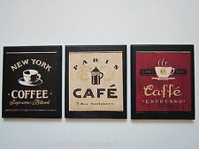 Coffee Wall Decor Signs Country Red Black Kitchen pictures coffee lovers bistro