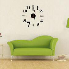 Mini Acrylic Modern DIY Wall Clock 3D Sticker Design Home Office Room Decor