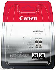 2x Canon BCI-3eBK Black Ink Tank Genuine Cartridge Smartbase MP730 Photo MPC600F