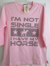 NWT I'm Not Single I Have My Horse M Pink T-Shirt Original Cowgirl Clothing