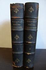 Histoire D'Angleterre B.Macaulay - Vol. I - II - 1854 - French