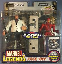 Marvel Legends Face Off White Suit Kingpin Vs Daredevil MOC Netflix 2 Figures