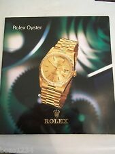 ROLEX OYSTER CATALOG SWITZERLAND 63 pg COLORED GUIDE WATCHES BANDS HISTORY BOOK