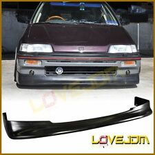 Z-Style Black PU Front Bumper Lips Spoiler Bodykit for Honda Civic 1988-1991