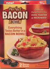 New Perfect Bacon Or Bread Bowl Molds Microwave Or Oven Set of 2 As Seen On TV