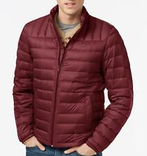 Down Packable Jacket by Tommy Hilfiger for Men - Quilted, Lightweight -Medium