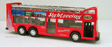 "6"" New York city double decker sightseeing tour bus diecast model New RED #122"