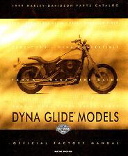 1999 HARLEY-DAVIDSON DYNA MODELS PARTS CATALOG MANUAL -FXD-FXDX CONV-FXDL-FXDWG