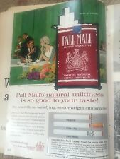 1960s Pall Mall Print AD vintage advertising Cigarettes Tobacco