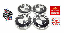 BMW 4 x 68 mm Carbon Fibre Wheel Centre Caps Badges Fits E34 E36 E39 E46 E60