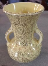 Vintage Pioneer Pottery Co Vase, yellow with 22k Gold - Gorgeous!