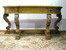 "Henredon ""Statements"" Console Table; Striking Veneers & Near Mint"