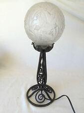Ancienne Lampe ART-DECO 1930 Fer Forgé