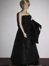 Custom Replica Engagement Gown, Stole, Jewelry for FM Princess Diana Doll