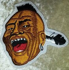 """Atlanta Braves Screaming Savage Indian 4"""" Iron On Embroidered Patch~FREE SHIP!!~"""