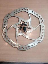 Promax 180mm wavey drilled mtb bike hybrid 6 bolt disc brake rotor with bolts