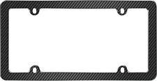 Carbon Fiber Black Plastic License Plate Tag Frame for USA Car-Truck-SUV