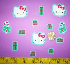New! Cool! Hello Kitty Christmas Iron-on Fabric Appliques ~ Iron ons
