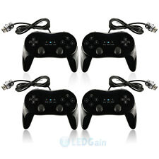 4X Classic Controller Pro For Nintendo Wii Remote BLACK US Ship