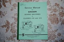 Professional Service Manual, in PDF Form on CD: Singer 416 & 418 Sewing Machines