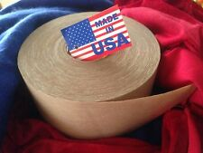 8 Rolls 72mm x375ft Reinforced Gummed Kraft Paper Tape Water-Activated Pkg. USA