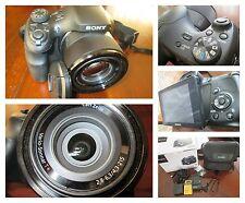 Fotocamera Sony DSC-HX300, obiettivo Zeiss, 20.4 Mpx, zoom opt 50x, cn custodia