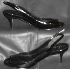 Cole Haan Nike Air Womens Black Patent leather slingback sandal size 6B