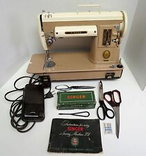 SINGER 301A SEWING MACHINE WITH ATTACHMENTS AND ACCESSORIES