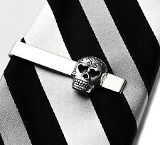 Skull Tie Clip - Tie Bar - Tie Clasp - Business Gift - Handmade - Gift Box