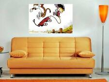 "CALVIN AND HOBBES 35""X25"" INCH MOSAIC WALL POSTER CARTOON"