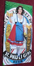 "1990 Print Ad St. Pauli Girl Beer ~ 23"" x 11"" Three-Page Sexy Gate-Fold Pin-Up"