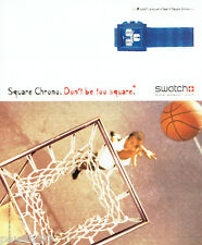 PUBLICITE ADVERTISING 026  2002  Swatch montre square Chrono