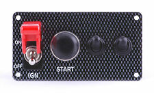 Ignition Switch Panel Carbon Fiber Look w/two accessory