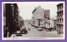 AUSTRALIA REAL PHOTO LONSDALE ST MELBOURNE POSTCARD