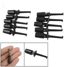 Portable 10pcs Black Durable Electrical Probe Testing Le Wire Hook Kit Tool N3