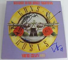 Axl Rose GUNS N' ROSES Signed Autograph Album LP by All 5 Members Slash, Izzy, +