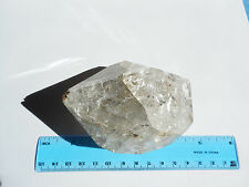 "GIANT 100mm(4"") HERKIMER DIAMOND QUARTZ CRYSTAL/ from NY;  343.6g; ORGONE #41"