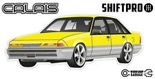VL Calais Holden Commodore Sticker - Yellow with Factory Rims  - ShiftPro Brand