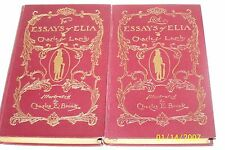 The Essays of Elia and Lost Essays of Elia by Charles Lamb 2 Vol. USA hardcovers