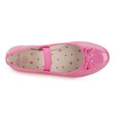 NUOVE Clarks Danza SHINE ragazze scarpe rosa/taglia uk 11.5 F